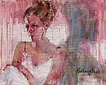 The Ballerina - Portrait of Victoria Schaas - Watercolor